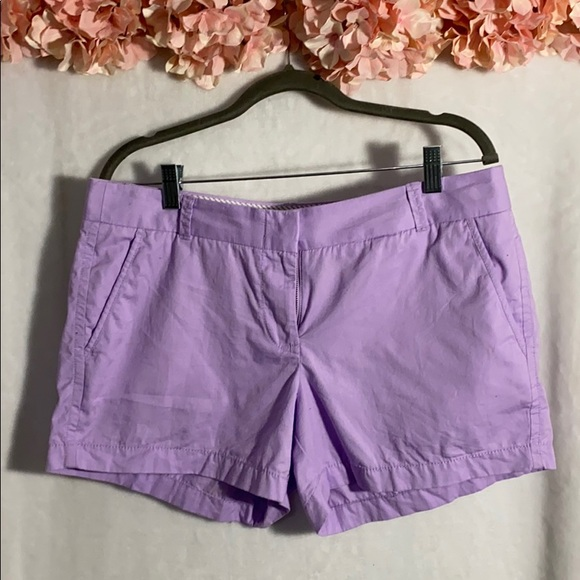 J. Crew Pants - J Crew Lavender Chino Broken -in short size 8